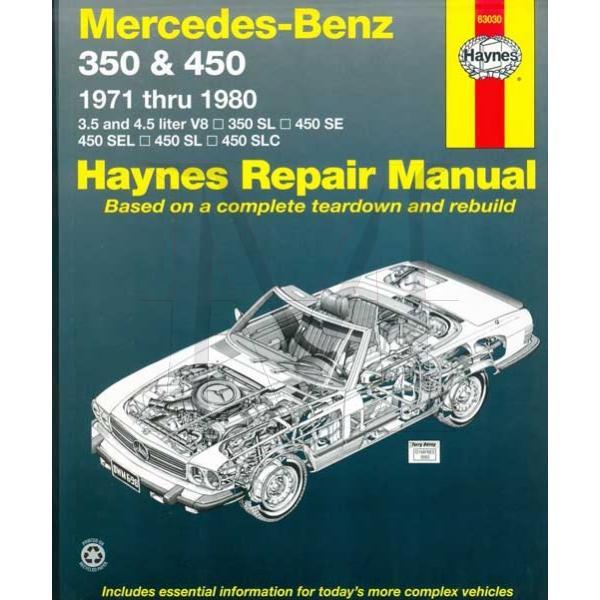 HAYNES REPAIR MANUAL = 107CH (320SL 380SL 450SL 560SL)