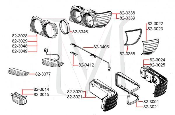 HEADLIGHT ASSEMBLY - U.S.